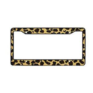Leopard License Plate Frame Ebay