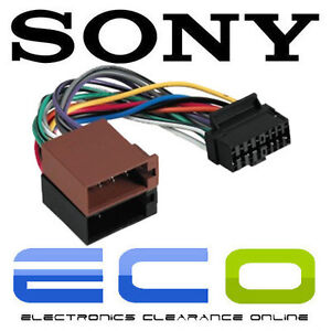 sony 16 pin car stereo wiring harness to iso sony car stereo power lead ebay