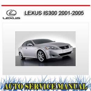 lexus is300 2001 2005 repair service manual dvd ebay. Black Bedroom Furniture Sets. Home Design Ideas