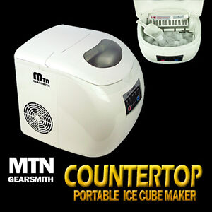 New-Deluxe-MTN-Portable-Countertop-Desk-Ice-Cube-Maker-Machine-33-lbs-Day