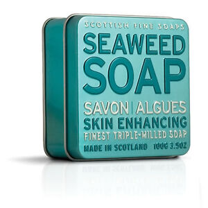 scottish fine soaps company seaweed tinned soap 100g ebay. Black Bedroom Furniture Sets. Home Design Ideas