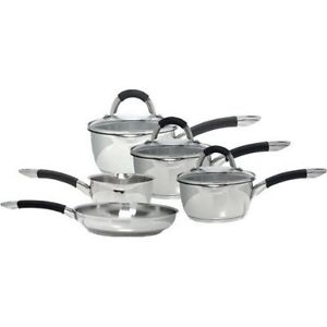 Ready Steady Cook Bistro 5 Piece S/ Steel Cookware Set Dishwasher Induction Safe
