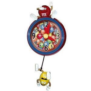 M-M-s-Pendulum-Wall-Clock-Official-Licensed-Characters-Makes-Sounds-Hangs-M9WC1
