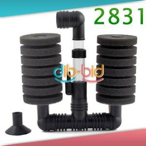 Aquarium Biochemical Sponge Filter Fish Tank Air 2831