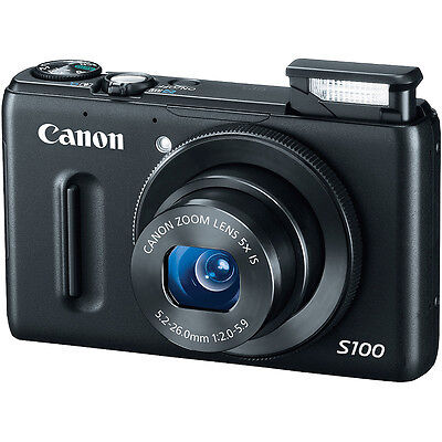Canon PowerShot S100 Digital Camera BLACK 5244B001 NEW on Rummage