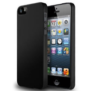 KDLINKS iPhone 5S & iPhone 5 Black 0.5mm ULTRA Thin Slim Fit Case Cover Skin