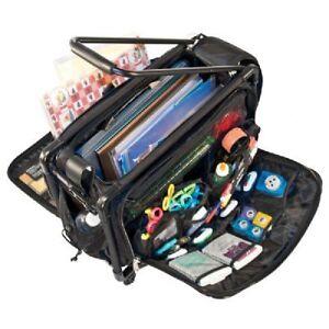 tutto storage on wheels medium tote bag with interior pockets scrapbooking craft ebay. Black Bedroom Furniture Sets. Home Design Ideas