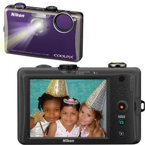 ★★BRAND NEW Nikon COOLPIX S1100pj Digital Camera Violet w/ built-in Projector★★
