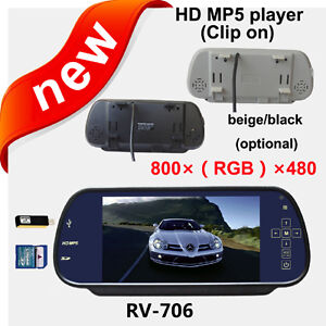 HD-800-480pixesl-7-LCD-Color-Car-Rear-View-Reverse-Mirror-Monitor-mp5-player