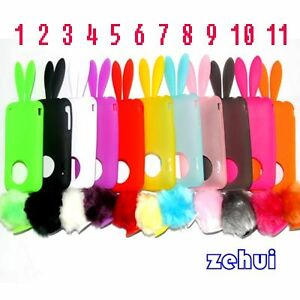 1x-Soft-Cute-Rabbit-Bunny-Ears-Tail-Silicone-Bumper-Case-Cover-for-Iphone-3G-3GS