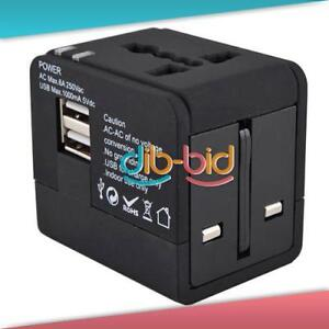 Multifunction Travel Universal Power Adapter Socket AU/EU/US/UK Dual USB Port #3