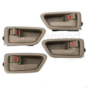 4 inside door handle set tan for toyota camry 1997 1998 - 1998 toyota camry interior parts ...