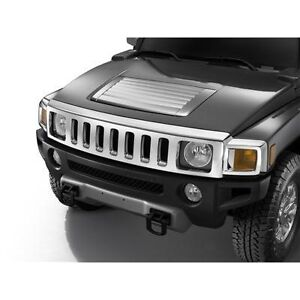 2006 2010 hummer h3 chrome hood grill louver 19212335 gm. Black Bedroom Furniture Sets. Home Design Ideas