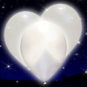 White Light Up LED iLLoom Balloons - 15 pack