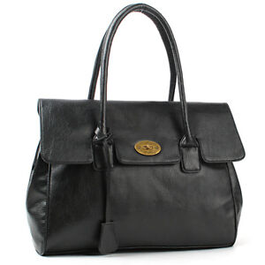 NWT-LADIES-Womens-HANDBAG-Tote-shoulder-bag-Worldwide-Freeshipping-black