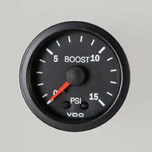 VDO-BOOST-GAUGE-BLACK-0-15PSI-52MM-TURBO-DIESEL-LANDCRUISER-PATROL-PAJERO-4WD