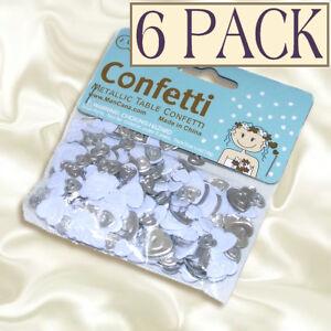 Silver-White-Love-Hearts-Table-Wedding-Party-Sparkle-Confetti-MCC7-Bulk-6-Pack