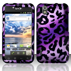 SnapOn Hard Phone Protector Cover Skin Case for LG MARQUEE LS855 Cheetah Purple