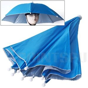Umbrella Hat Cap Sun Rain Fishing Camping Golf Sports