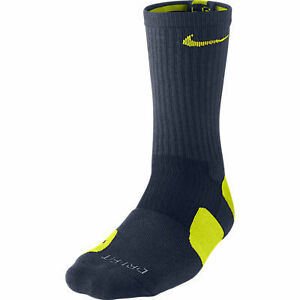 Nike-Dri-Fit-CREW-ELITE-Basketball-Socks-Obsidian-Cyber-SX3693-453-Sz-8-12-L