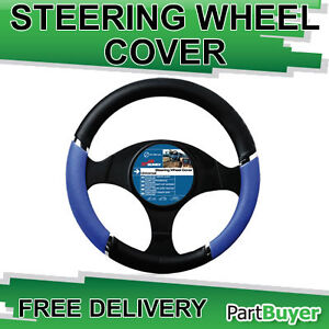 SPEED STEERING WHEEL COVER / GLOVE BLACK / BLUE 37-39cm UNIVERSAL