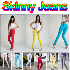 Slim-Fit-Skinny-Jeans-Pencil-Pants-Stretch-Trousers-Women-Landy-Sexy-Candy-Color