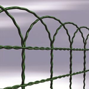 GARDEN BORDER FENCE 650mm X 10m PVC COATED GREEN WIRE MESH EBay