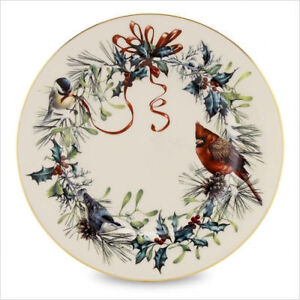 6~Lenox Fine China WINTER GREETINGS Salad Plates NEW NWT FREE SHIP