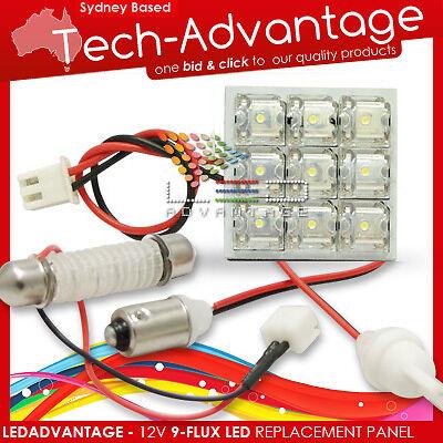 12V 1 WATT 9-FLUX-LED T10 BA9S FESTOON GLOBE/BULB ADAPTORS - CAR/BOAT/CARAVAN