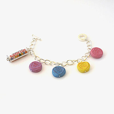 love hearts sweet bracelet with tube and 4 sweets yummy candy cute 80s
