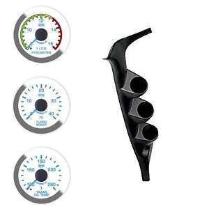 Ford-99-07-Pyro-Boost-Trans-Isspro-EV2-LED-White-Face-Blue-Pointer-3-Gauges-Kit