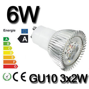3W 4W 6W 8W 9W HIGH POWER MR16 GU10 LED SMD SPOT Lampe Strahler Licht Warmweiss