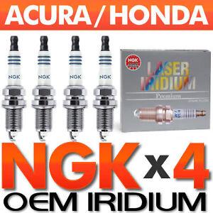 4-PC-NGK-Laser-Iridium-Spark-Plug-Set-OEM-for-Acura-Honda-2-0L-2-4L-4-Cylinder