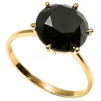 GORGEOUS RING - 2.65 CWT. BLACK DIAMOND SET IN 14 KARAT GOLD