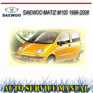 fuse box on daewoo matiz daewoo matiz m100 1998 2008 service repair manual dvd | ebay