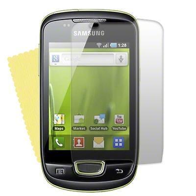 Samsung S5570 Galaxy Mini - 1x film de protection semi rigide + chiffon doux