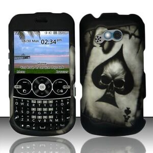 Spade-Skull-Rubberized-Protector-HARD-Case-Snap-on-Phone-Cover-for-Net10-LG-900g