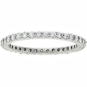 SALR-1-2-CT-SI-Round-GENUINE-Diamond-Eternity-Wedding-Stackable-Guard-Ring-Band