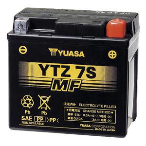 YUASA Factory Activated Maintenence Free 12 Volt Battery YTZ7S YTZ 7S