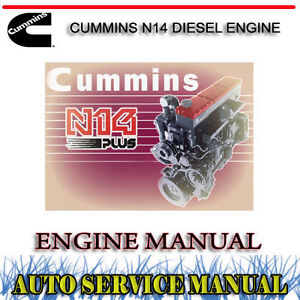 CUMMINS N14 DIESEL ENGINE SERVICE REPAIR MANUAL ~ DVD