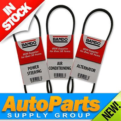 3PC Montero Sport Fan Belt Set Alternator Air Conditioning Power Steering ALL