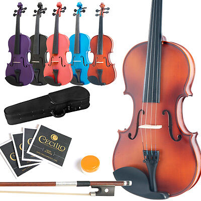 NEW SIZE 4/4 3/4 1/2 1/4 1/8 1/10 1/16 VIOLIN+$70 GIFTS on Rummage
