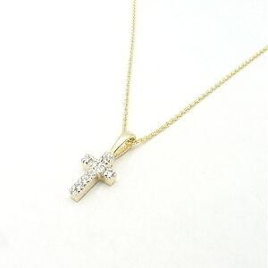 14K-YELLOW-GOLD-TINY-DIAMOND-CROSS-PENDANT-NECKLACE
