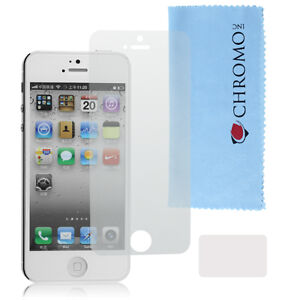 Screen-Protector-For-Apple-iPhone-5-Anti-Glare-Guard-Kit-Cloth-Card-Chromo-Inc
