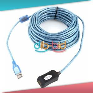 30FT 10M USB 2.0 A Male to A Female Data Built-in IC Extension Repeater Cable #3
