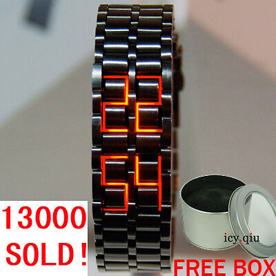 Red LED Digital Watch Lava Style mens sports watch N1 B on Rummage