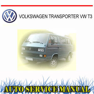 VOLKSWAGEN TRANSPORTER VW T3 SERVICE REPAIR MANUAL ~ DVD