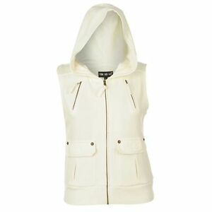 ladies hooded gilet jumper casual top womens sports colour wear women cardigan