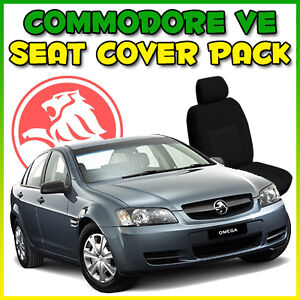 HOLDEN COMMODORE VE OMEGA TAILOR CUSTOM MADE CAR SEAT COVERS BLACK FRONT & REAR