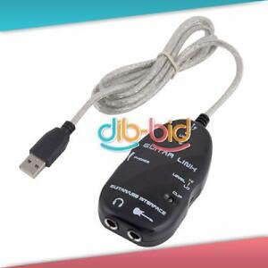 New Promotions Guitar to USB Interface Link Audio Cable PC/MAC Recording Adapter